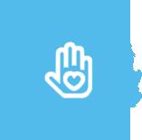 Volunteer Icon Blue Icon